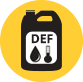 Oil, glycol and DEF containers